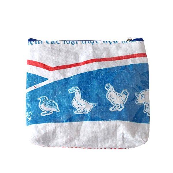 ベトナム 飼料袋 リメイク ポーチ(色々な動物大集合)
