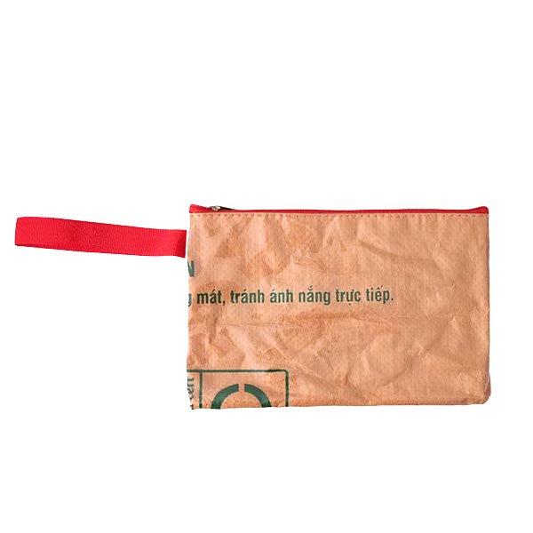 ベトナム 飼料袋 リメイク ポーチ(長方形 ブタ )【画像3】