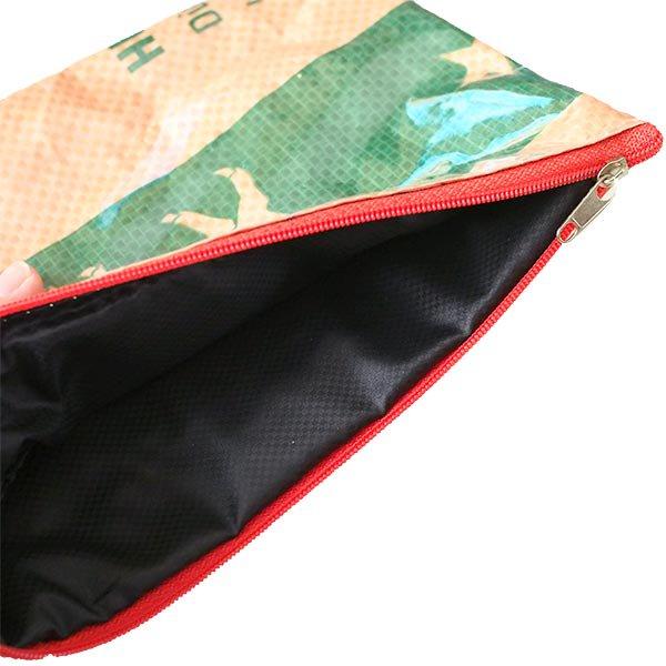 ベトナム 飼料袋 リメイク ポーチ(長方形 ブタ )【画像4】