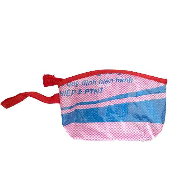 ベトナム 飼料袋 リメイク ポーチ(マチ付き 魚)【画像3】