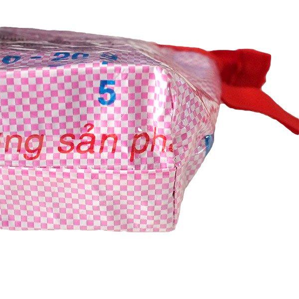 ベトナム 飼料袋 リメイク ポーチ(マチ付き 魚)【画像4】