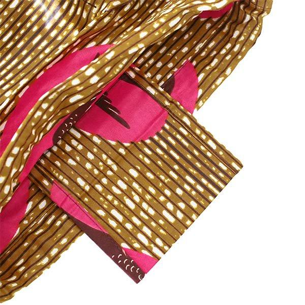 マリ 足踏みミシンで仕立てた パーニュ 巾着 エコバッグ(NEWサイズ ツバメ ピンク)【画像4】