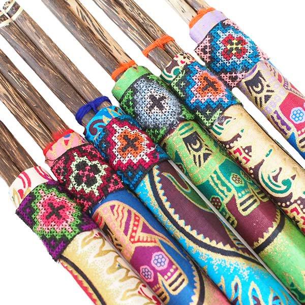ヤオ族 刺繍布付き 箸セット(6色)【画像4】