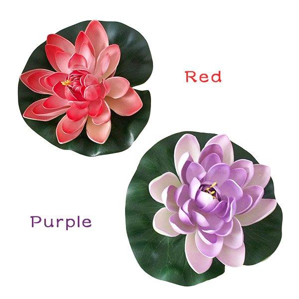 ベトナム フローティング フラワー 蓮(ロータス)造花(4色 17cm)【画像3】