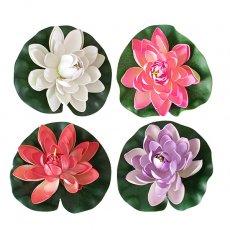 ベトナム フローティング フラワー 蓮(ロータス)造花(4色 17cm)
