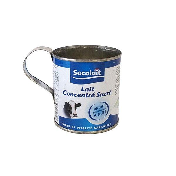 マダガスカル  リサイクル缶 コップ(練乳缶 小)