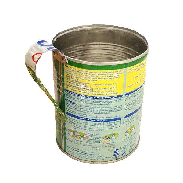 マダガスカル  リサイクル缶 コップ(ベビーミルク缶 大)【画像2】