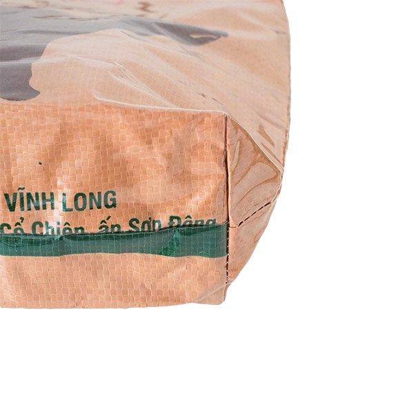 ベトナム 飼料袋 リメイク バッグ(肩掛けOK マチ付き ブタ ブラウン )【画像5】