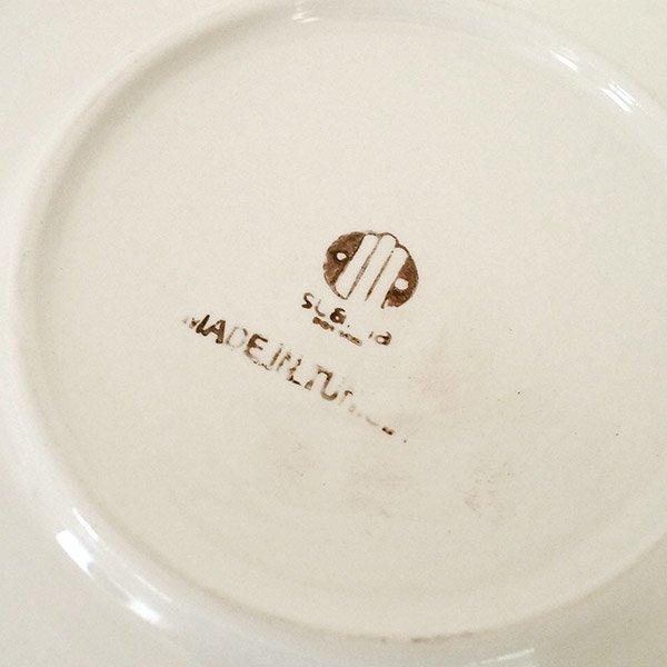 チュニジア SLAMA製 手描き 皿(ターコイズ 24cm)【画像3】