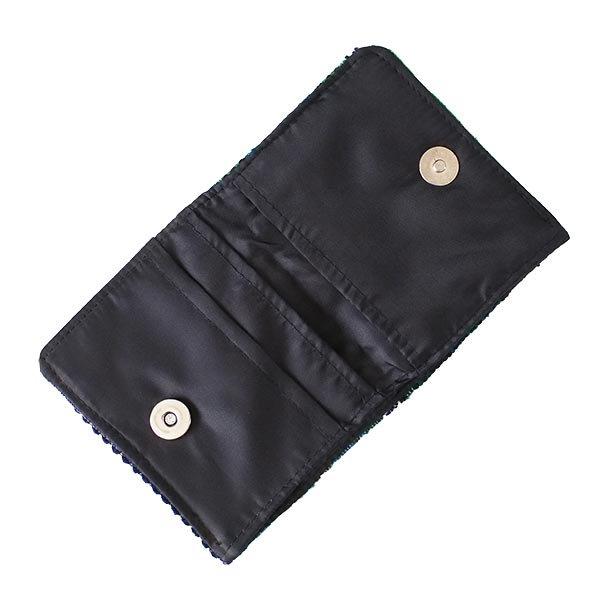 ベトナム  モン族 刺繍 財布(二つ折り グリーン)【画像4】