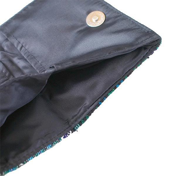 ベトナム  モン族 刺繍 財布(二つ折り グリーン)【画像5】