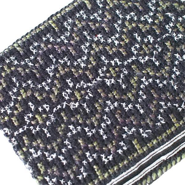 ベトナム モン族 刺繍 財布(二つ折り ブラック系)【画像3】