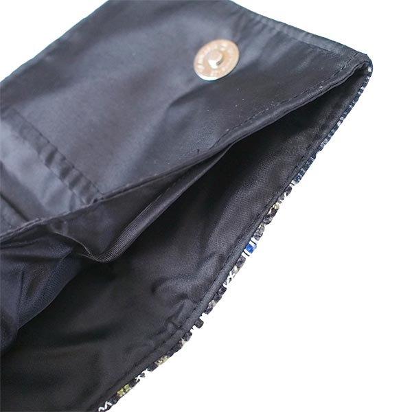 ベトナム モン族 刺繍 財布(二つ折り ブラック系)【画像4】