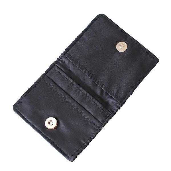 ベトナム モン族 刺繍 財布(二つ折り ブラック系)【画像5】