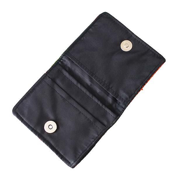 ベトナム モン族 刺繍 財布(二つ折り オレンジ)【画像4】