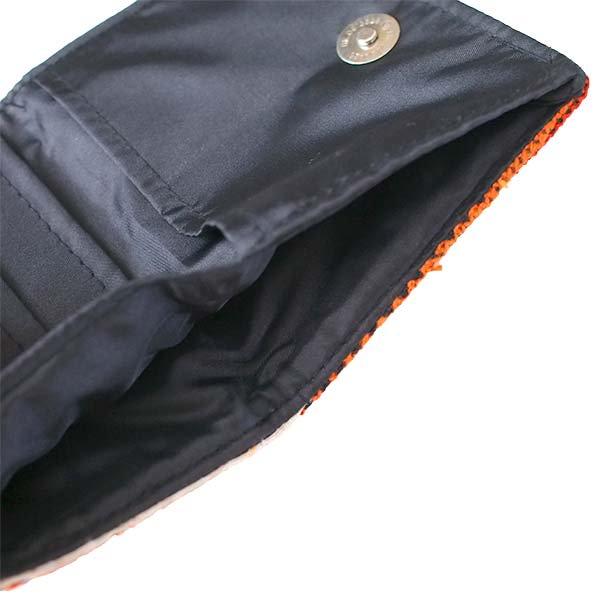 ベトナム モン族 刺繍 財布(二つ折り オレンジ)【画像5】
