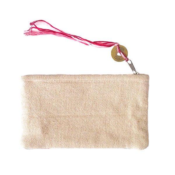 ベトナム モン族 刺繍 ポーチ(タッセル付き 長方形 A)【画像2】