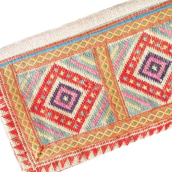 ベトナム モン族 刺繍 ポーチ(タッセル付き 長方形 A)【画像3】