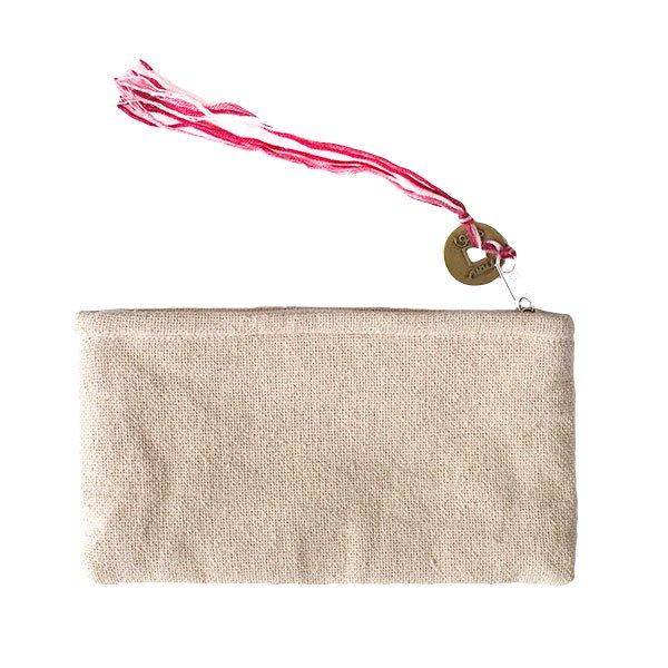 モン族 古布 刺繍 ポーチ(タッセル付き B 10×18)民族 刺繍 / ベトナム直輸入【画像2】
