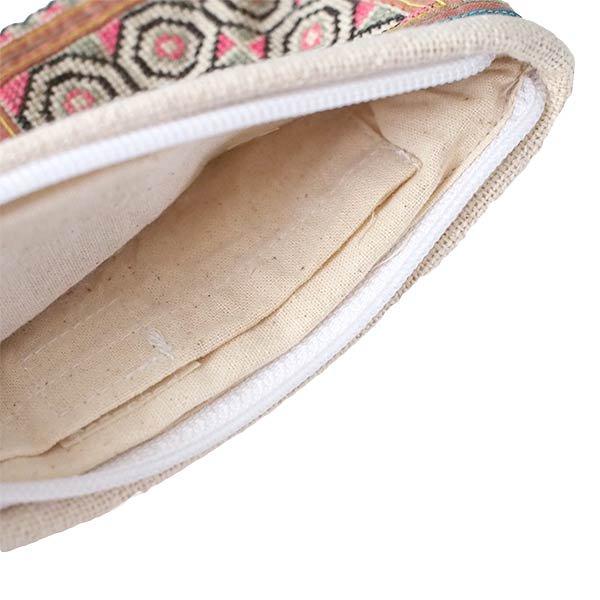 モン族 古布 刺繍 ポーチ(タッセル付き B 10×18)民族 刺繍 / ベトナム直輸入【画像4】