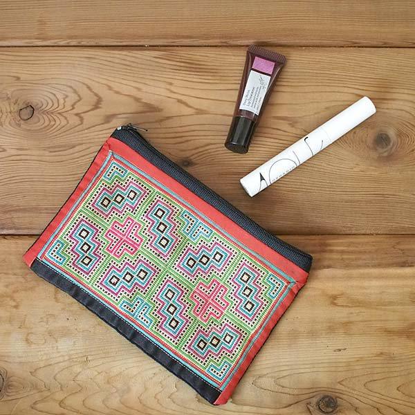 ベトナム モン族 古布 刺繍 ポーチ(長方形 A)【画像5】