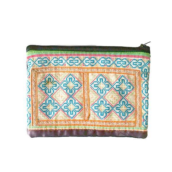 ベトナム モン族 刺繍 ポーチ(長方形 B)