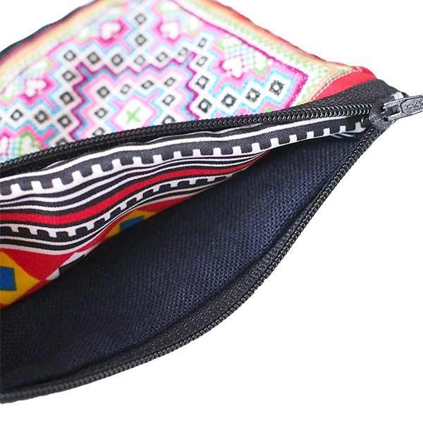 ベトナム モン族 古布 刺繍 ポーチ(長方形 D)【画像4】