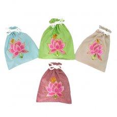 ベトナム 蓮の花(ロータス)刺繍 巾着