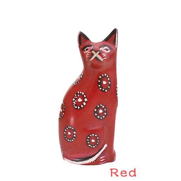 ケニア  ソープストーン 猫(4色)【画像6】