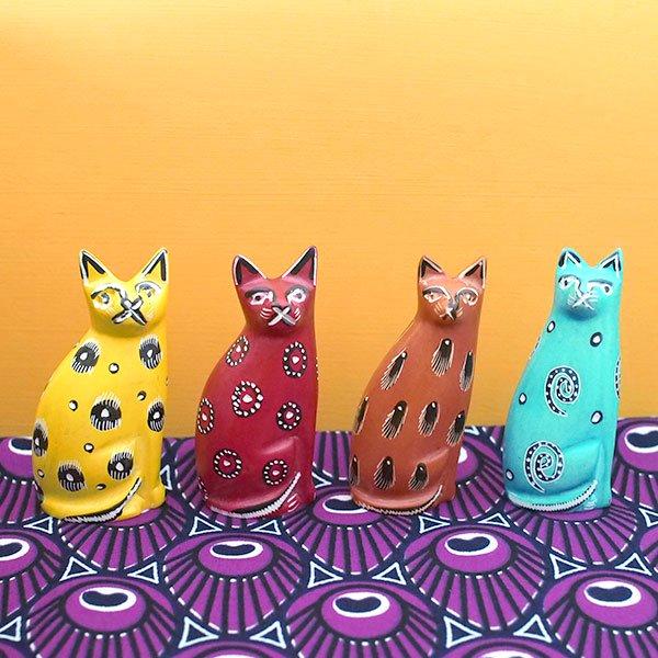 ケニア  ソープストーン 猫(4色)【画像7】