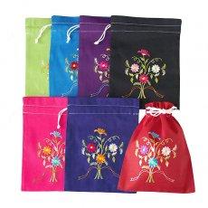 ベトナム 刺繍 巾着 小(花 B)