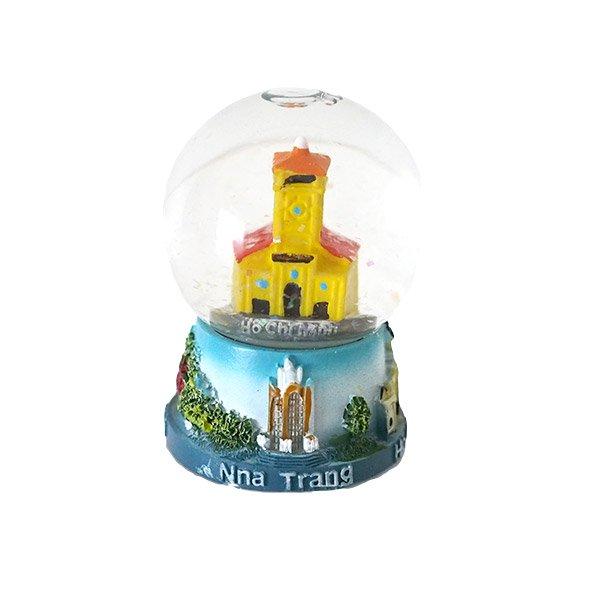 ベトナム ホーチミン スノードーム(ベンタイン市場 高さ約6cm)