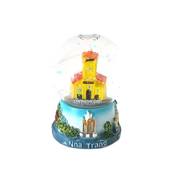 ベトナム ホーチミン スノードーム(ベンタイン市場 高さ約6cm)【画像2】