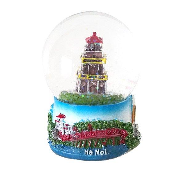 ベトナム スノードーム(ハノイ ホアンキエム湖 亀の塔 高さ約9cm)