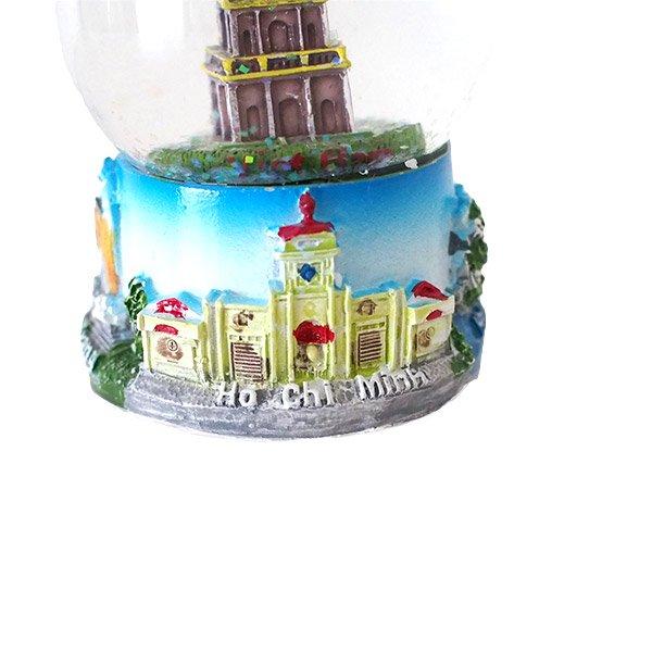 ベトナム スノードーム(ハノイ ホアンキエム湖 亀の塔 高さ約9cm)【画像4】