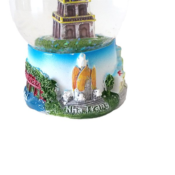 ベトナム スノードーム(ハノイ ホアンキエム湖 亀の塔 高さ約9cm)【画像5】