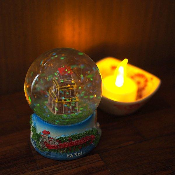 ベトナム スノードーム(ハノイ ホアンキエム湖 亀の塔 高さ約9cm)【画像7】