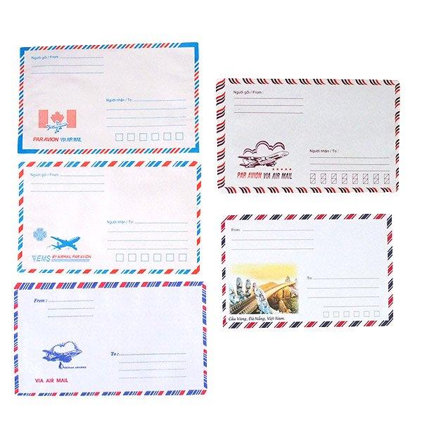 ベトナム エアメイルの封筒(5枚セット)【画像2】