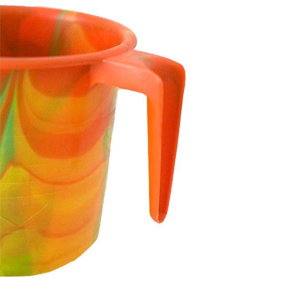 セネガル プラスチックコップ(0.4リットル オレンジ)【画像2】