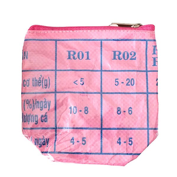 ベトナム 飼料袋 リメイク ポーチ(NEW サイズ 魚 ピンク)【画像2】