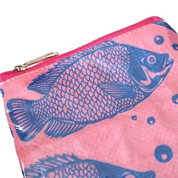 ベトナム 飼料袋 リメイク ポーチ(NEW サイズ 魚 ピンク)【画像3】