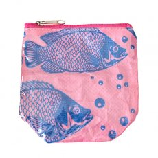 ベトナム 飼料袋 リメイク ポーチ(NEW サイズ 魚 ピンク)