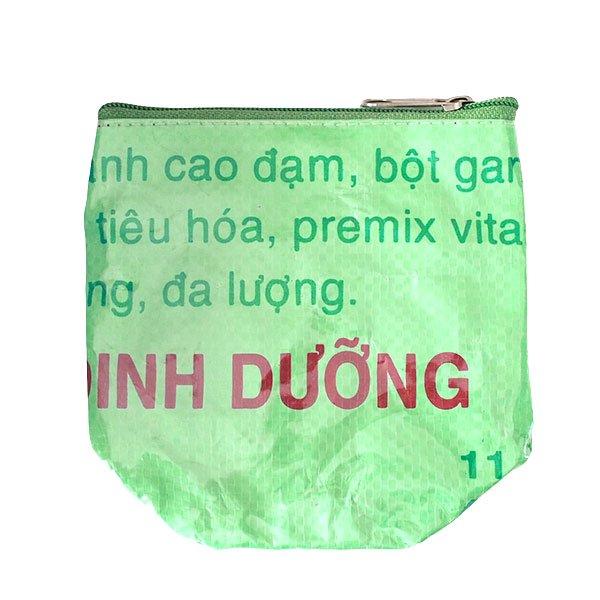 ベトナム 飼料袋 リメイク ポーチ(NEW サイズ 魚 グリーン)【画像2】