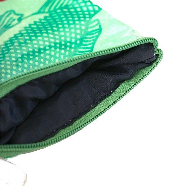 ベトナム 飼料袋 リメイク ポーチ(NEW サイズ 魚 グリーン)【画像4】
