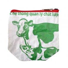 ベトナム 飼料袋 リメイク ポーチ(NEW サイズ 牛 ウシ)