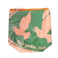 トリ (鳥) 雑貨 ベトナム 飼料袋 リメイク ポーチ(NEW サイズ トリ)