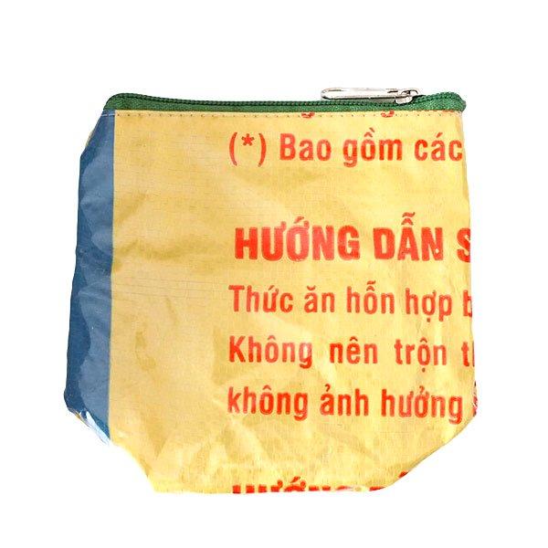 ベトナム 飼料袋 リメイク ポーチ(NEW サイズ アヒル イエロー)【画像2】