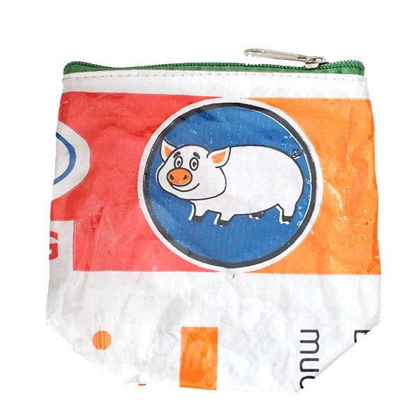 ベトナム 飼料袋 リメイク ポーチ(NEW サイズ ブタ)
