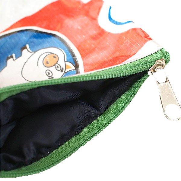 ベトナム 飼料袋 リメイク ポーチ(NEW サイズ ブタ)【画像4】