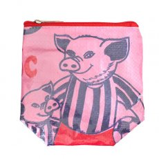 ポーチ / キーケース ベトナム 飼料袋 リメイク ポーチ(NEW サイズ ブタ ピンク)